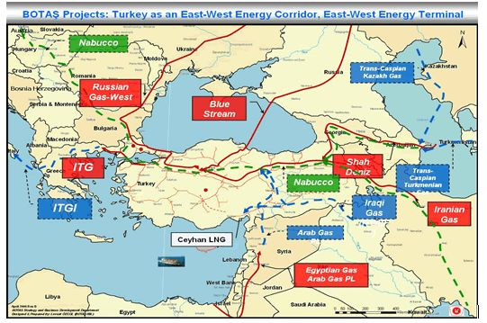 Газопроводите в Югоизточна Европа